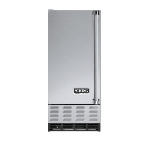 "Viking - Stainless Steel 15"" Undercounter/Freestanding Ice Machine - VUIM (Left Hinge Door)"
