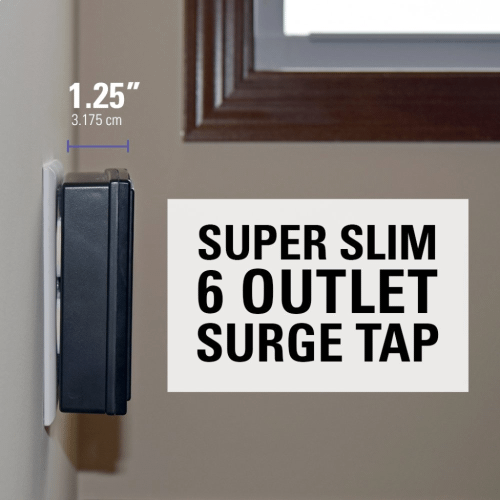 6-Outlet Super Slim Surge Tap