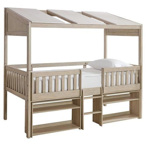 Wrenalyn Twin Loft Bed With Under Bed Bookcase