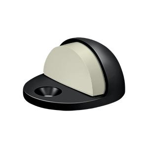 Dome Stop Low Profile, Solid Brass - Paint Black