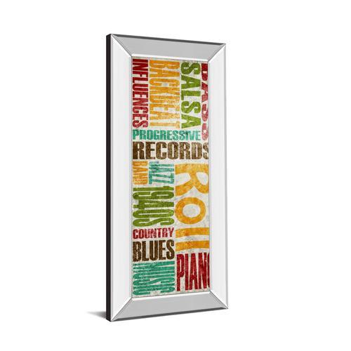 "Classy Art - ""Rock & Roll"" By Sd Graphics Studio Mirror Framed Print Wall Art"