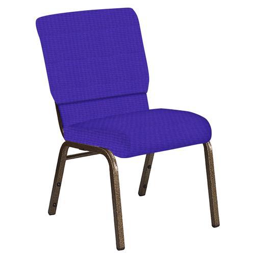 Flash Furniture - 18.5''W Church Chair in Interweave Lilac Fabric - Gold Vein Frame