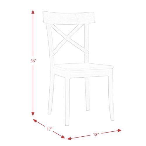 Callista X-Back Wooden Side Chair Set