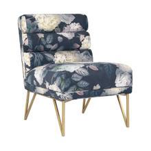 Kelly Floral Velvet Chair