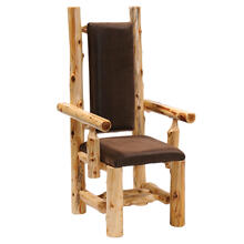 High-back Arm Chair - Natural Cedar - Standard Leather