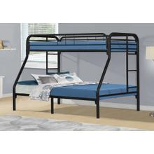 See Details - BUNK BED - TWIN / FULL SIZE / BLACK METAL