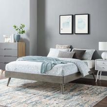 Margo King Wood Platform Bed Frame in Gray