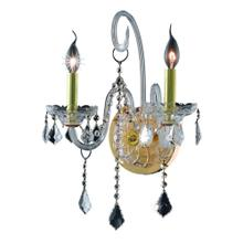 7852 Verona Collection Wall Sconce D:14in H:20in E:8.5in Lt:2 Gold Finish