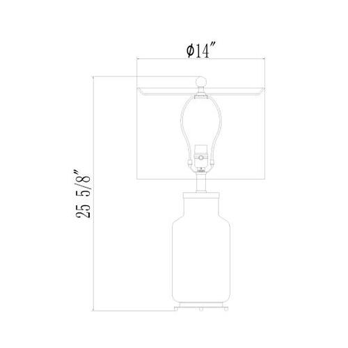 "Graysen GYN-003 26.5""H x 14""W x 14""D"