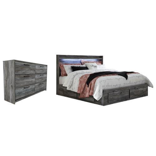 Ashley - King Panel Bed With 6 Storage Drawers With Dresser
