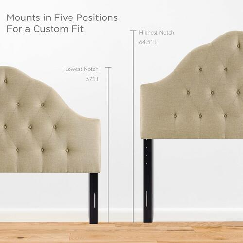 Modway - Sovereign Queen Upholstered Fabric Headboard in Beige