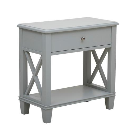 Grey Open X Leg Side Table