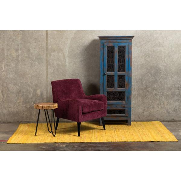 Kristina Raisin Purple Accent Chair, AC191