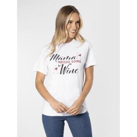 Mama Needs Wine T-Shirt - L