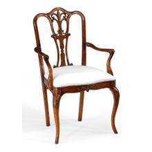 Mahogany 18th century style dining chair (Arm)