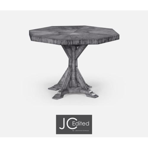 Antique dark grey octagonal centre or dining table