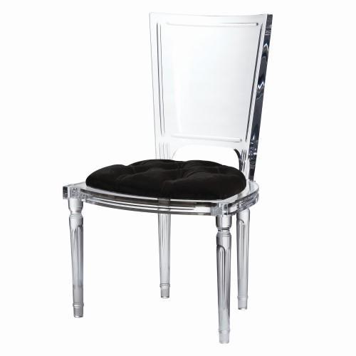 Marilyn Acrylic Side Chair-Black