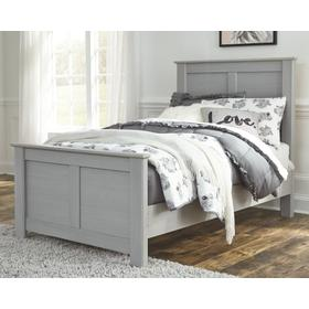 Arcella Twin Panel Bed Gray
