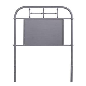 Twin Metal Headboard - Grey