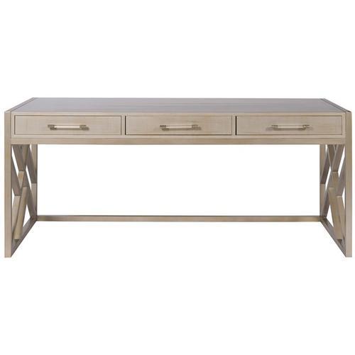 Berkley Desk with Wood Fretwork Base HH09
