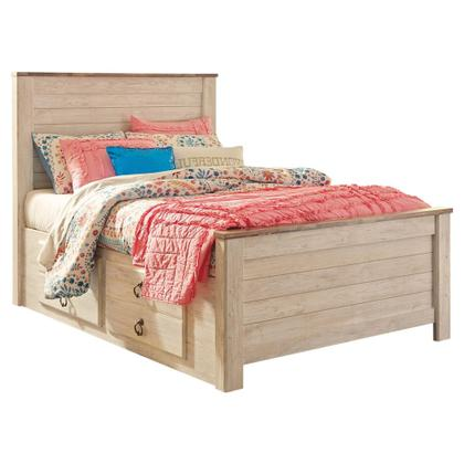 See Details - Willowton Full Panel Bed With 2 Storage Drawers