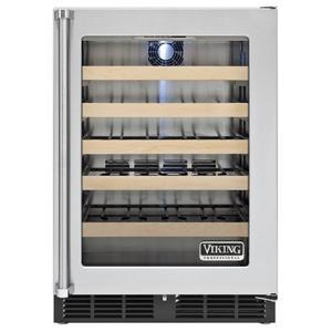 "Viking - 24"" Undercounter Wine Cellar VWCI, Clear Glass, Right Hinge/Left Handle"
