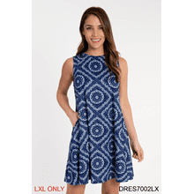See Details - Bandanna Print Sleeveless Dress - L/XL (2 pc. ppk.)