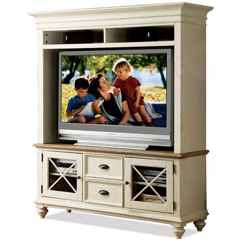 Coventry Two Tone - Console Hutch - Weathered Driftwood/dover White Finish