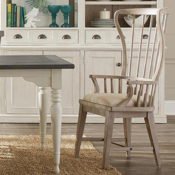 Windsor Upholstered Hostess Chair - Natural Finish