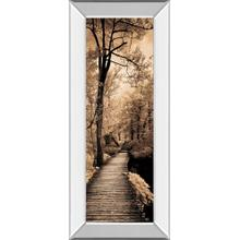 """Quiet Stroll I"" By Sziletyi Mirror Framed Print Wall Art"