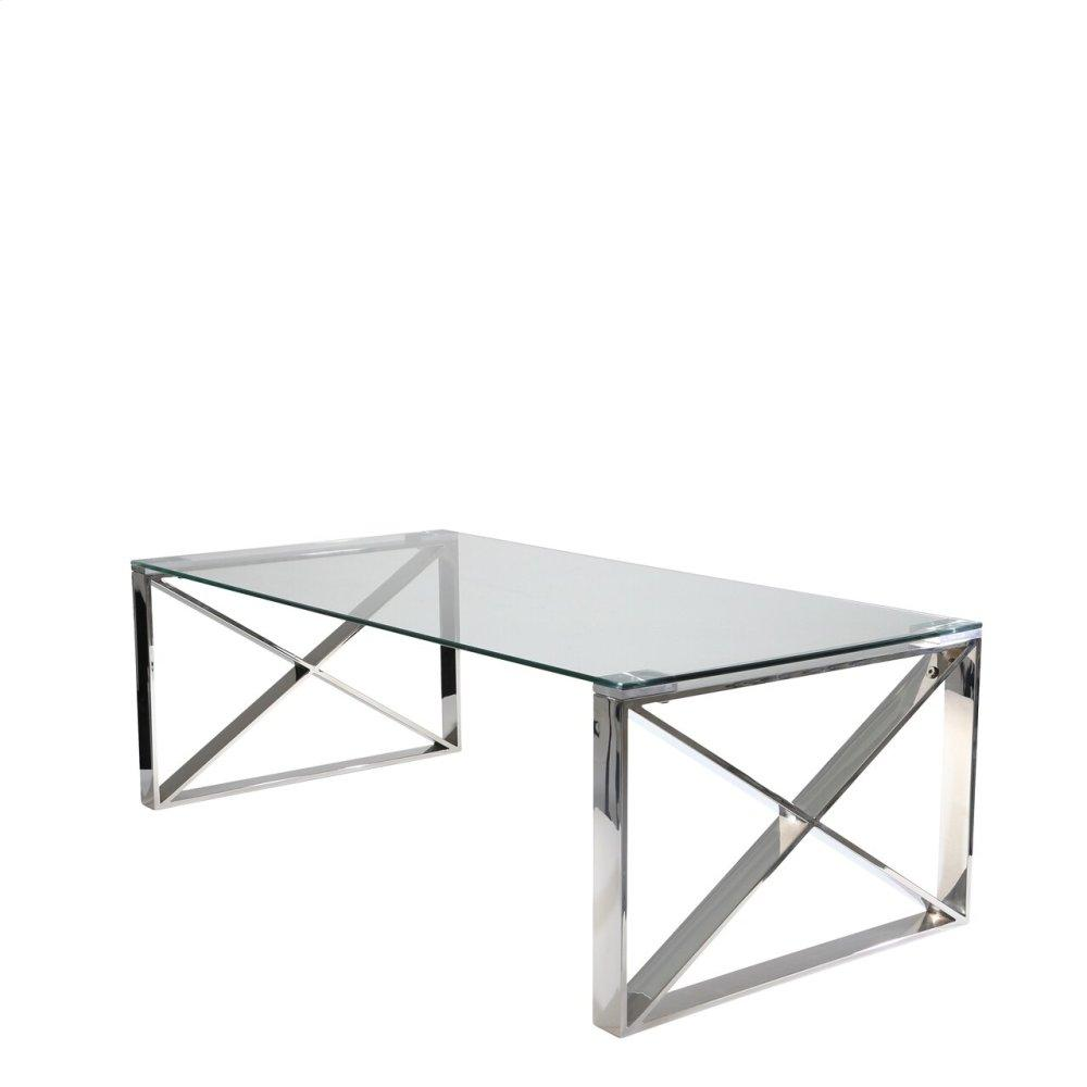 Silver Metal/glass Cocktailtable, Kd