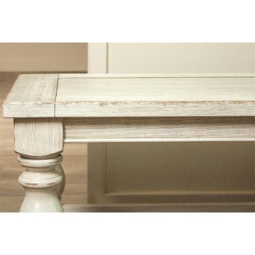 Aberdeen - Bench - Weathered Worn White Finish