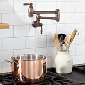 Traditional Pot Filler - Carbon Bronze
