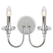 See Details - Darla Wall Sconce - Chrome / Clear