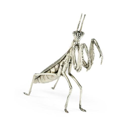 White Brass Praying Mantis