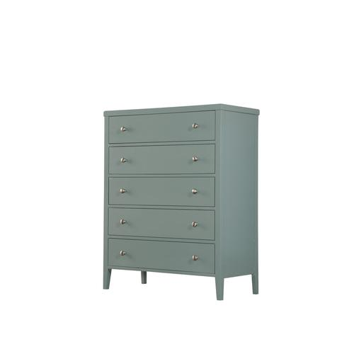 5 Drawer Chest-seafoam Green