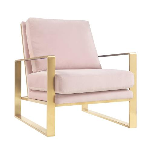 Mott Mauve Velvet Chair