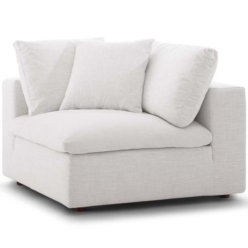Commix Down Filled Overstuffed Corner Chair in Beige