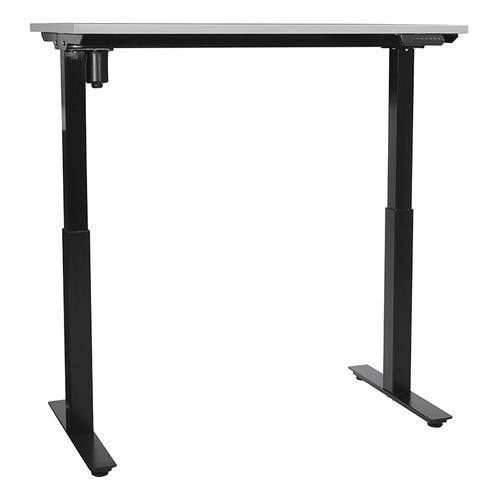48x24 Single-motor Height Adjustable Table, Grey Top/black Base