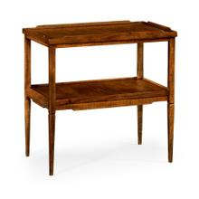 Walnut country style side table