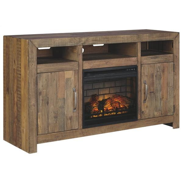"""See Details - Sommerford 62"""" TV Stand With Electric Fireplace"""