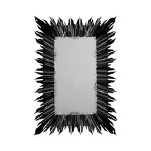 Black finish rectangular sunburst mirror