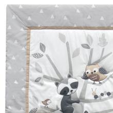 Little Rascals Gray Woodland Animals 6-Piece Baby Crib Bedding Set