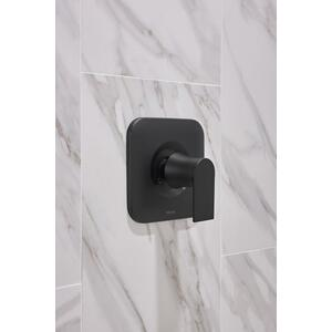 Genta matte black posi-temp® valve trim
