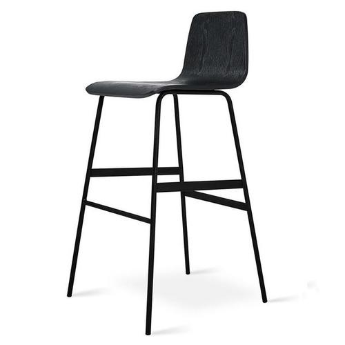 Lecture Bar Stool Black Ash