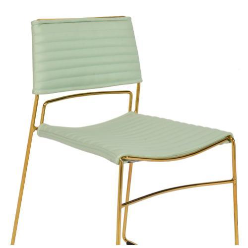 Tov Furniture - Domani Mint Vegan Leather Chair (Set of 2)