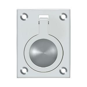 "Deltana - Flush Ring Pull, 2-1/2"" x 1-7/8"" - Polished Chrome"