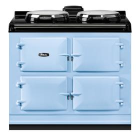 """AGA Dual Control 39"""" Electric Duck Egg Blue with Stainless Steel trim"""
