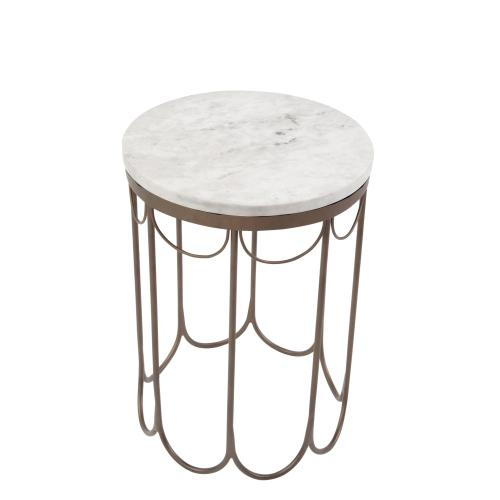 Covina Round End Table