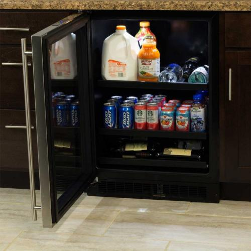 "Marvel 24"" Beverage Center with Convertible Shelves - Integrated Left Hinge"